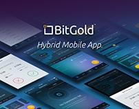 BitGold Hybrid Mobile App.