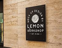 Logo Mock Up Big Exterior Signboard