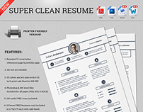 Super Clean Resume/CV - With MS Word