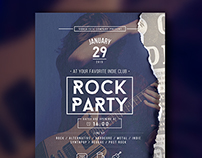 Rock Party Flyer