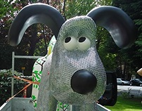Gromit 'May contain Nuts' mosaic