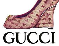 Gucci Shoe Advertisement