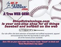 ShopExtraInnings.com Promotion Card