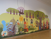 Magenta Children's Hospital wall art