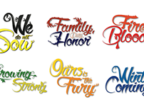 Game of Thrones Title Designs