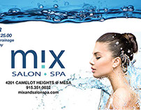 Mix Spa Ad for The City Magazine
