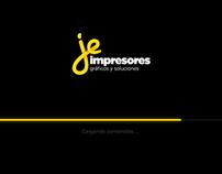 Desarrollo sitio web de JE Impresores