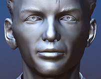 Young Frank Sinatra bust