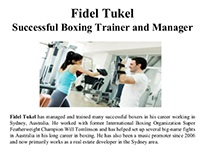 Importance of having a boxing gym trainer: Fidel Tukel