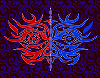 TATTO-staff of good and evil-By J A P