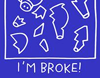 "Poster ""I´m broke!"""
