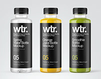 11 Juice Bottles PSD Mockups