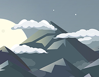 Mountain Range Illustration