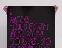 Handmade font for free