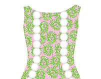 Lilly Pulitzer Inspired Illustration