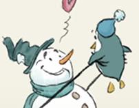 Snowman's pet