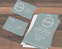 Country Chic Wedding Stationery