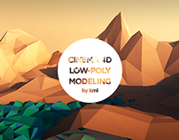 Mountains Low-Poly Modeling