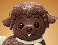 3D Chocolate sheep