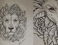 rosy lion
