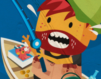 The Fishing Rod for Ideas Illustration