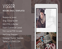Visser- CV Email Template + Builder Access