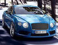 Bently Continental GTS Tracking Shot
