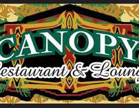 Canopy Restaurant Logo, Menu and Sign