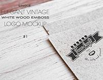 Elegant Vintage Logo Mockup #1