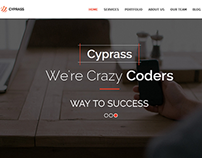 Cyprass - a responsive one page template