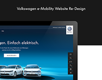 Volkswagen e-Mobility Website Re-Design Concept