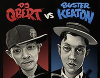 DJ QBERT vs BUSTER KEATON poster