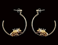 Chameleon Hoops Earrings