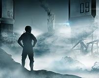 Sci-fi scene concept art
