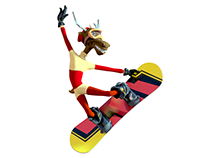 JASKA - Animated Snowboarding Movie