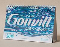 CAMPAÑA-CALENDARIO Librerías Gonvill 2015