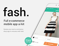 Fash - A Mobile E-Commerce Shop UI Design Kit