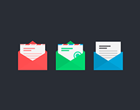 Flat Mail Icons Freebie