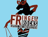 Fringe on the Rocks Festival Poster Campaign