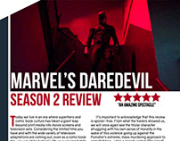 Daredevil: Season 2 Article Design