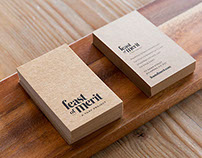 Feast of Merit Café Branding