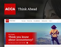 ACCA Student Portal - Website Concept