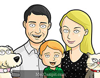 Family Guy Style Cartoon Commission