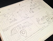 Storyboard and Concept Sketches