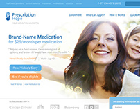 Prescription Hope Homepage Concept