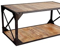 Industrial Coffee Table by Zin Home
