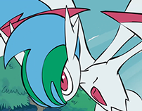 Pokemon Gallade using protect  (WIP)