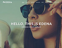 EDENA | Creative Template - One page option