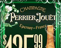 """Perrier-Jouët """"Fleur"""" - 2'x3' Sign"""