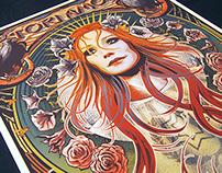 Tori Amos, Alphonse Mucha Inspired gig poster